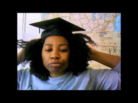 Natural Hair V S The Graduation Cap Youtube