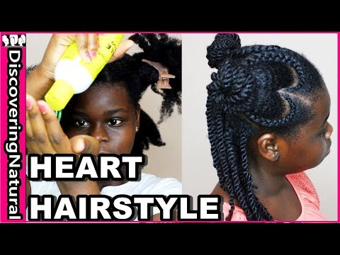 Valentine S Day Natural Hair Styles For Black Girls Heart Cornrows Ft Jamaican Mango And Lime Youtube