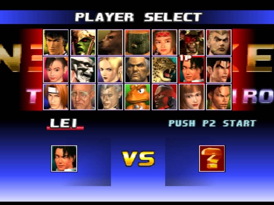 Tekken 3 All Character Select Youtube