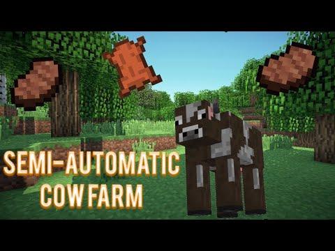 Minecraft : Semi-Automatic Cow Farm