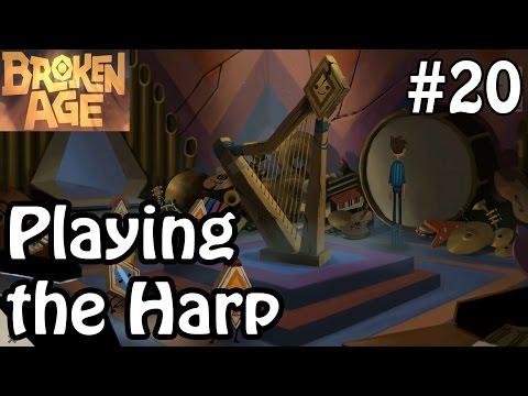 Broken Age Act 2 - Playing The Harp - Walkthrough Gameplay Part 20