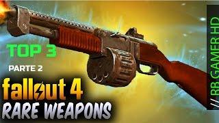 Fallout 4 Top 3 Armas únicas / Armas raras (Unique Weapons) (Localização) Parte 2