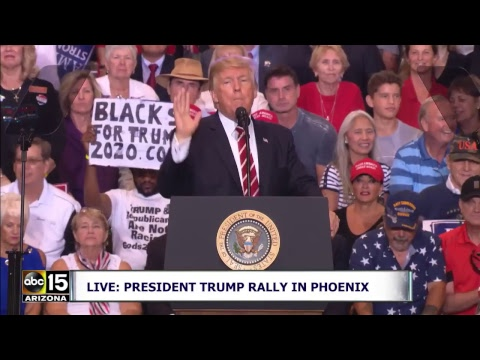 FULL: PROTESTS BEFORE AND President Trump's Speech at Phoenix Rally