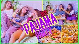 PAJAMA PARTY DIY♥ Cooking+ MOVIES