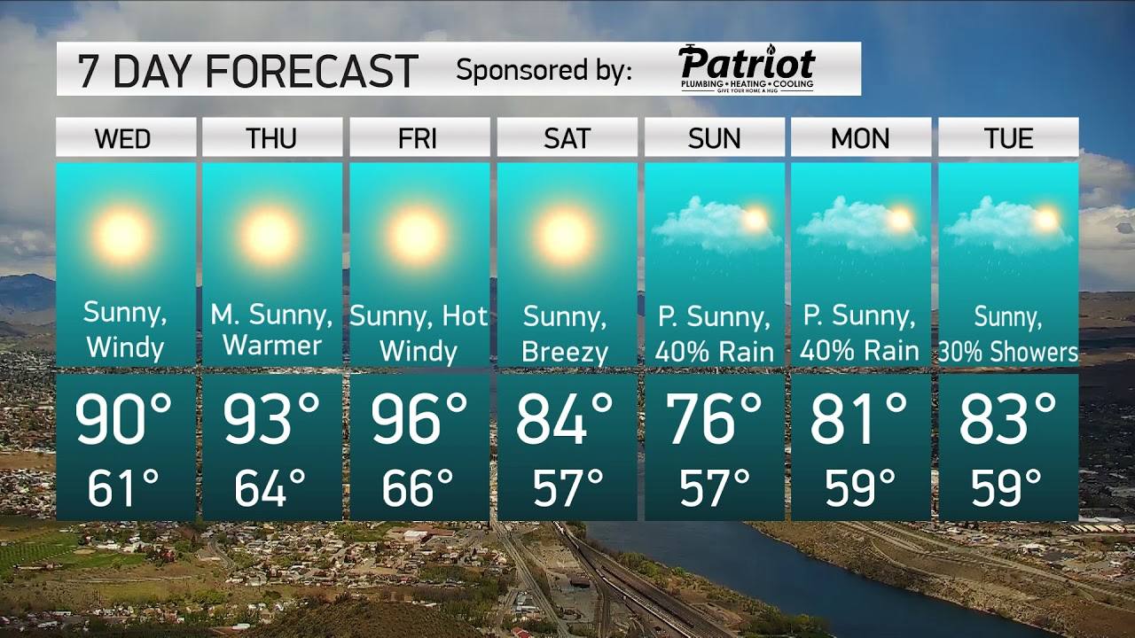 Wenatchee 7-day forecast 2020-06-24