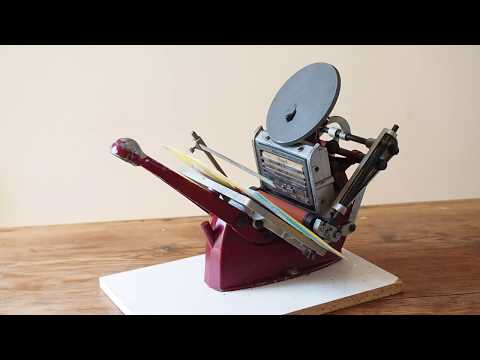 How a Printing Press Works | Adana Press | Book History Skills