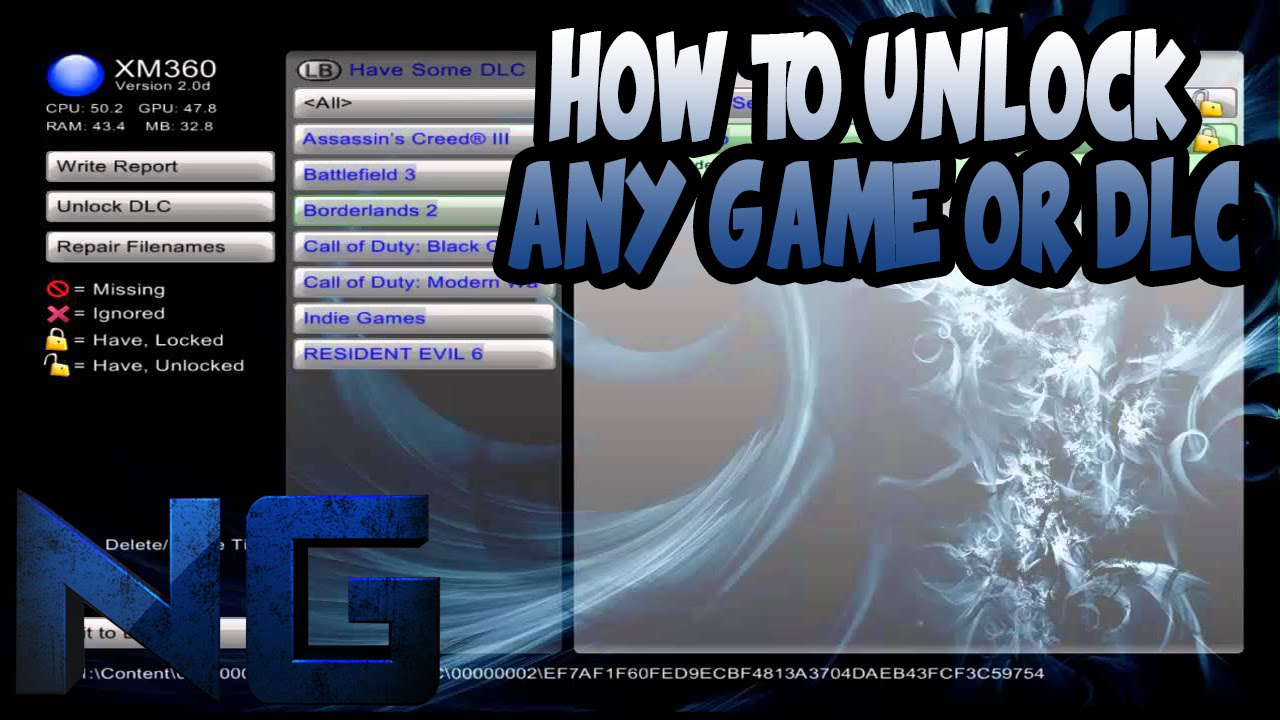 How to unlock any game or dlc on JTAG/RGH