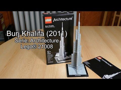 LEGO Burj Khalifa 2011 Review (Set Nr. 21008 Architecture Test deutsch)