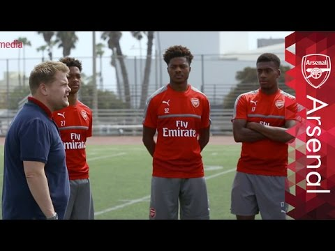 What Happens When James Corden Coaches Arsenal? | Behind The Scenes