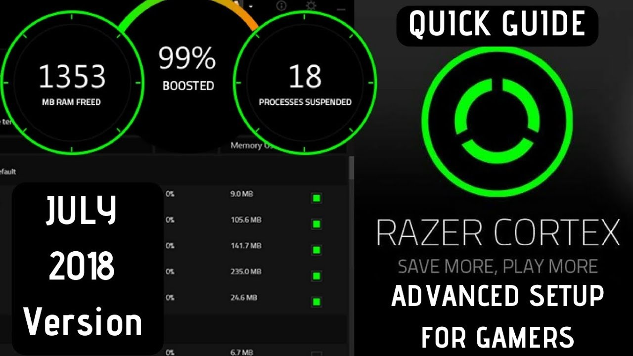 Razer Cortex Game Booster - Advance Setup July 2018 | INCREASE FPS |