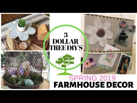 DOLLAR TREE DIY FARMHOUSE DECOR 2019/ON A BUDGET FARMHOUSE DECOR