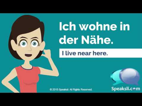 Where Do You Live? | Learn German | Speaksli
