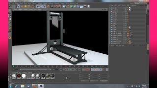 Cinema 4D guillotine project for download