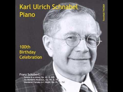 Karl Ulrich Schnabel - Schubert Moments Musicaux