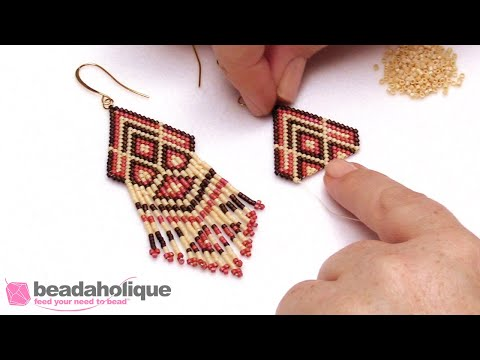 How To Add Beaded Fringe To Brick Stitch Bead Weaving
