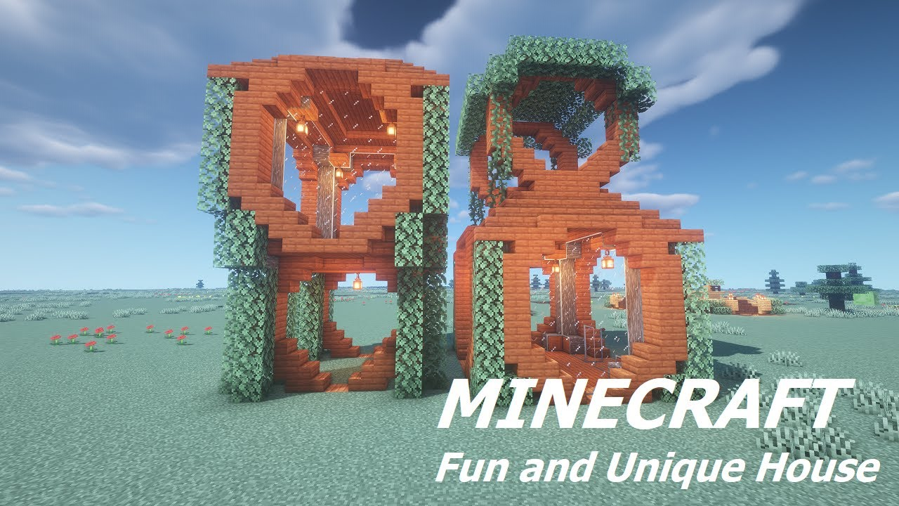Minecraft Fun And Unique House Tutorial Youtube