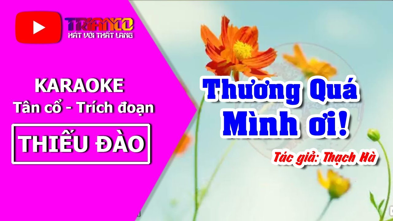 Karaoke Tân cổ Thương Quá Mình Ơi - Thiếu đào - Hát với Hong Michael