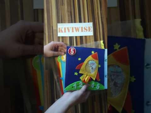 Книга из фетра для мальчика. Счёт. Мягкая книга