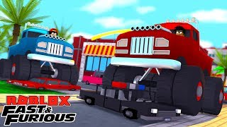 ROBLOX FAST AND THE FURIOUS - THE LITTLECLUB ILLEGALLY STREET RACE MONSTER TRUCKS!!