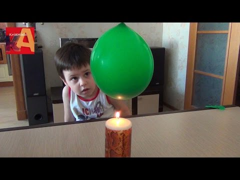 Опыт Огнеупорный шарик -- Опыты для детей