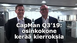 CapMan Q3'19: osinkokone kerää kierroksia