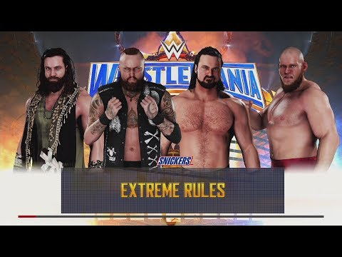 WWE 2K18 (PS4) Aleister Black vs Drew McIntyre vs Elias vs Lars Sullivan Elimination Match (DLC)