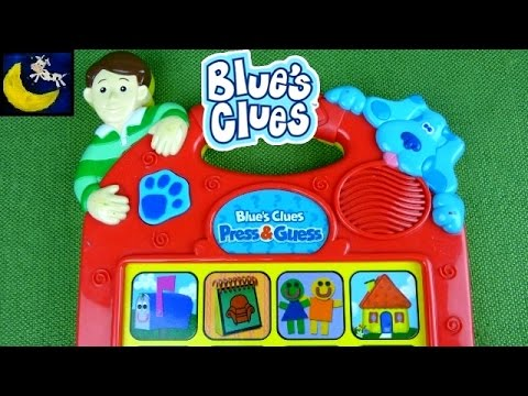 Blue's Clues Press & Guess Game Toys from 1998 with Steve ...