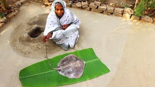 Shaplapata Mach Recipe | River Stingray Fish Curry Prepared by Granny in Village Style