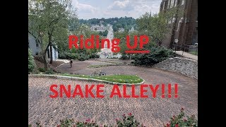 Riding Up Snake Alley, RAGBRAI 2019, GoPro On Helmet, A First Person Perspective, Burlington, IA.