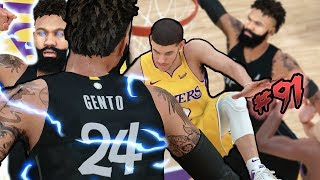 DID LONZO BALL JUST SNAP MY ANKLES in the PLAYOFFS? MADE NEAR HALF COURT 3! NBA 2k18 MyCAREER Ep. 91