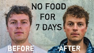 7 day water fast no food for a week before after
