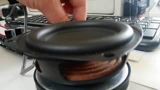 3 inch woofer speaker unit audio hi fi bass subwoofer 8ω 25w power