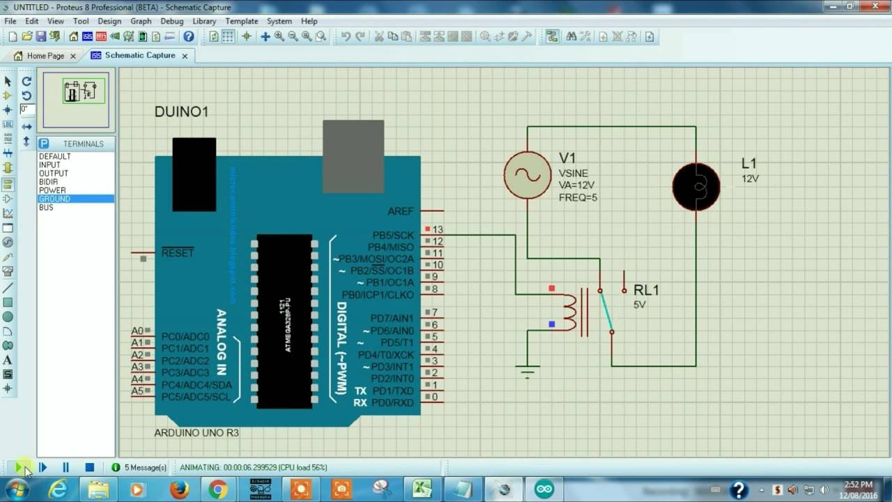 medium resolution of connecting relay to arduino proteus simulation tutorial 6