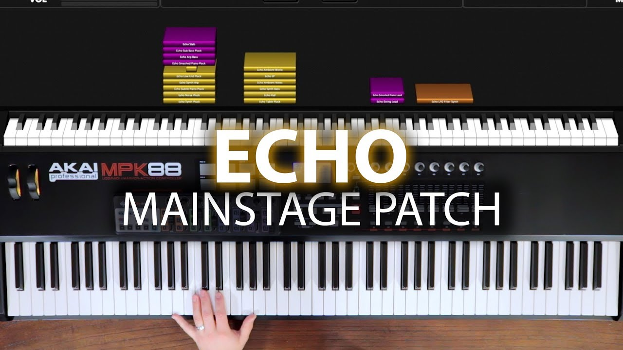 Echo MainStage patch keyboard cover- Elevation Worship
