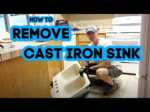 How to remove a cast iron sink
