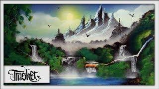Spray Paint Art - Landscape by: TRASHER thumbnail