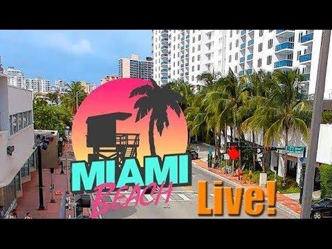 South Beach, Miami Beach, Florida USA - Live Stream 24/7 Full HD