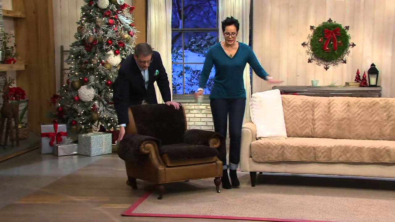 Sure Fit Sheared Faux Fur Furniture Cover on QVC
