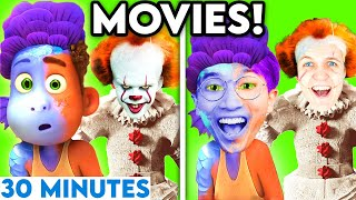 MOVIES WITH ZERO BUDGET! (LUCA, PENNYWISE, PAW PATROL, \u0026 MORE!) *30 MINUTE LANKYBOX COMPILATION*