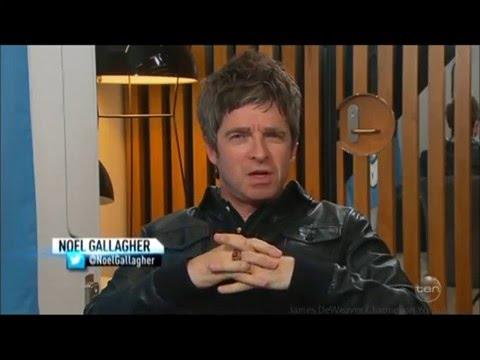"""Noel Gallagher """"I Enjoy NOT Working w/ F*#K's"""" Australian Tv Interview 29 3 2016"""