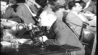 Hollywood Director Samuel Grosvenor Wood testifies at House Committee on Un-Ameri...HD Stock Footage