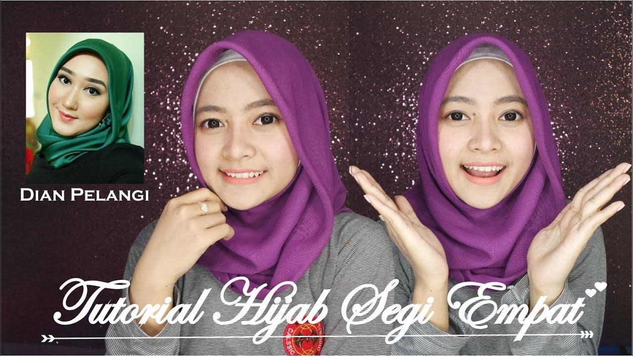 tutorial hijab segi empat ala dian pelangi | seftin prahaswati