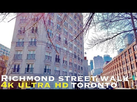 Richmond Street Toronto (walking Tour 4k)