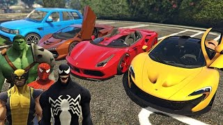 Örümcek Adam Venom Hulk Wolverine Kendi Arabalarını Tanıtıyor Çizgi Film Gibi İzle
