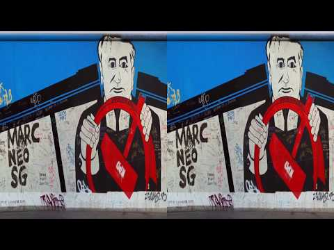 Mauer - East Side Gallery (3D SBS Stereo)