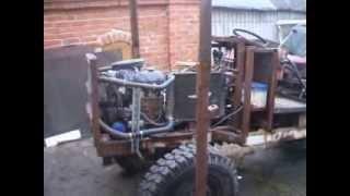 Трактор с двигателем ВАЗ 2106 часть 2