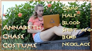 Annabeth Chase Costume : DIY Bead Necklace and CHB Shirt