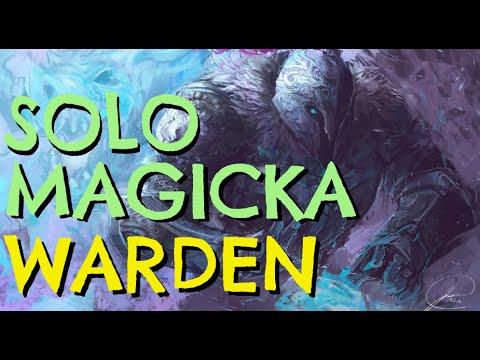 Ultimate Magicka Warden SOLO PVE Build - THE ATRONACH - ESO Wrathstone