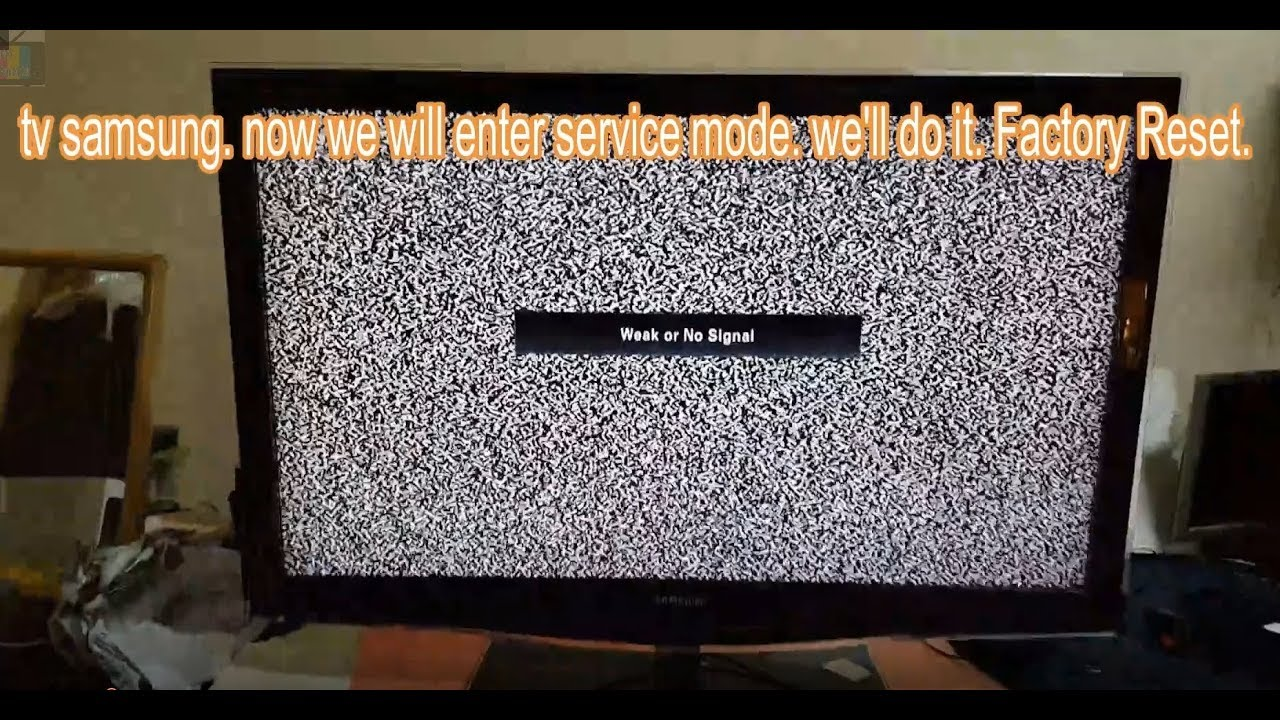 Samsung Tv Lcd Led Plasma Service Mode Factory Reset