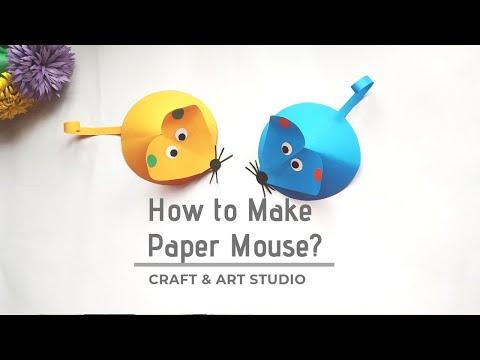 How to Make Paper Mouse Craft | Mice corner bookmark | কাগজ দিয়ে ইঁদুর বানানো
